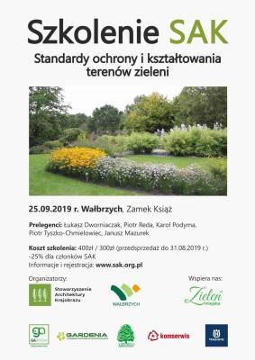 Plakat szkolenie Wałbrzych